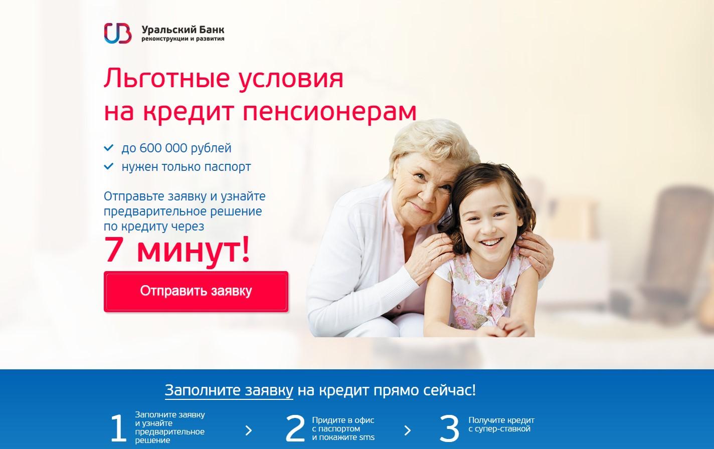 Условия выдачи в Уральском банке